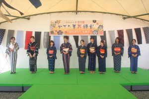 久留米絣着物小町(福島高校、一般)ファッションショー