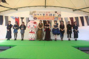 久留米絣ファッションショー(香蘭ファッションデザイン専門学校)
